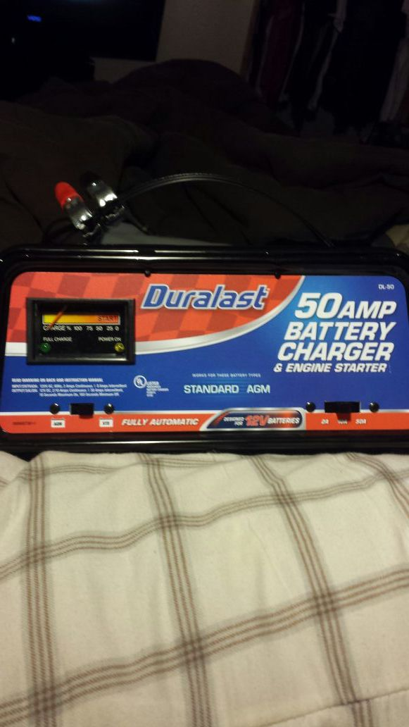 Duralast DL-50* 50Amp Battery Charger & Engine Starter for Sale in  Knoxville, TN - OfferUp