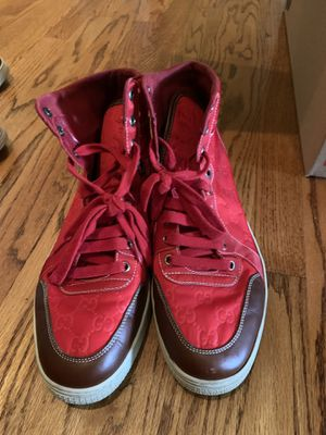 8ce145eb7fb6 Gucci high tops red men s shoes size 10 1 2 for Sale in Riverview