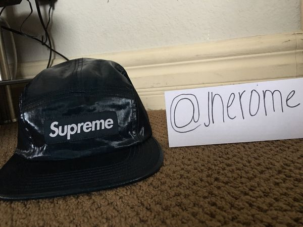 Supreme Coated Linen Camp Cap (Navy) for Sale in Enterprise c843a348b2a2