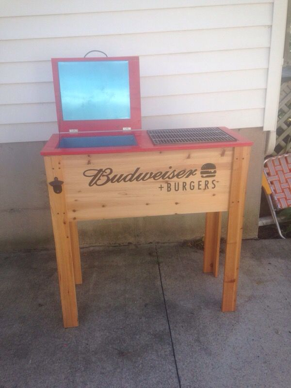 Budweiser Wood Cooler Grill Combo For Sale In Oshkosh Wi Offerup