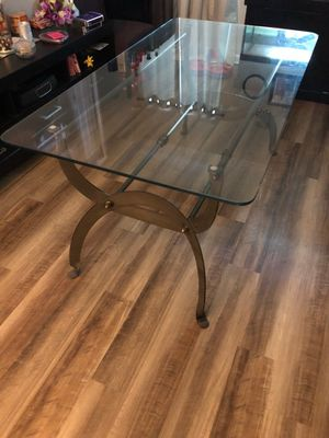 Large Glass Top Table Outdoor or Indoor for Sale in Alexandria, VA