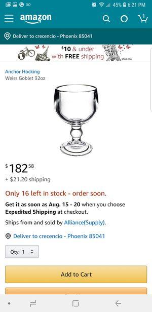 weiss goblet 32 oz for Sale in Laveen Village, AZ