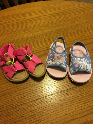 Toddler sandals size 7. Worn once each for Sale in Federal Way, WA