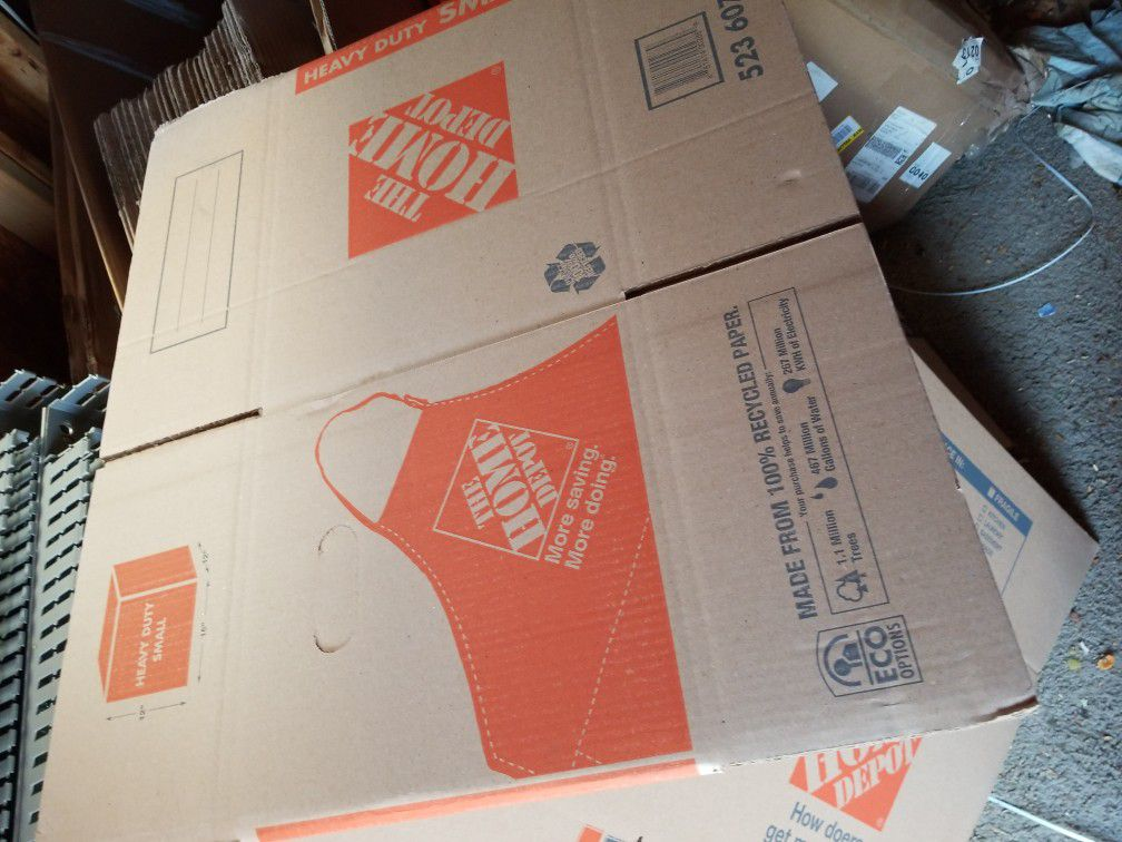 The Home Depot Small Moving Heavy Duty Cardboard Boxes, Pack Of 25