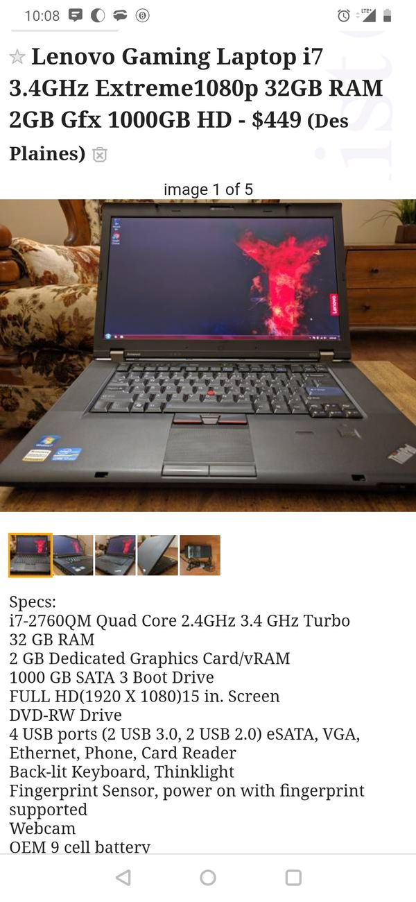 New and Used Lenovo laptop for Sale in Elgin, IL - OfferUp