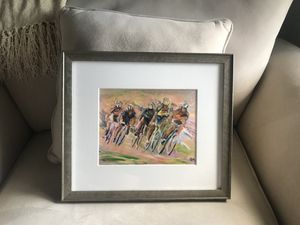 Custom Framed Cyclist Print for Sale in Chapel Hill, NC
