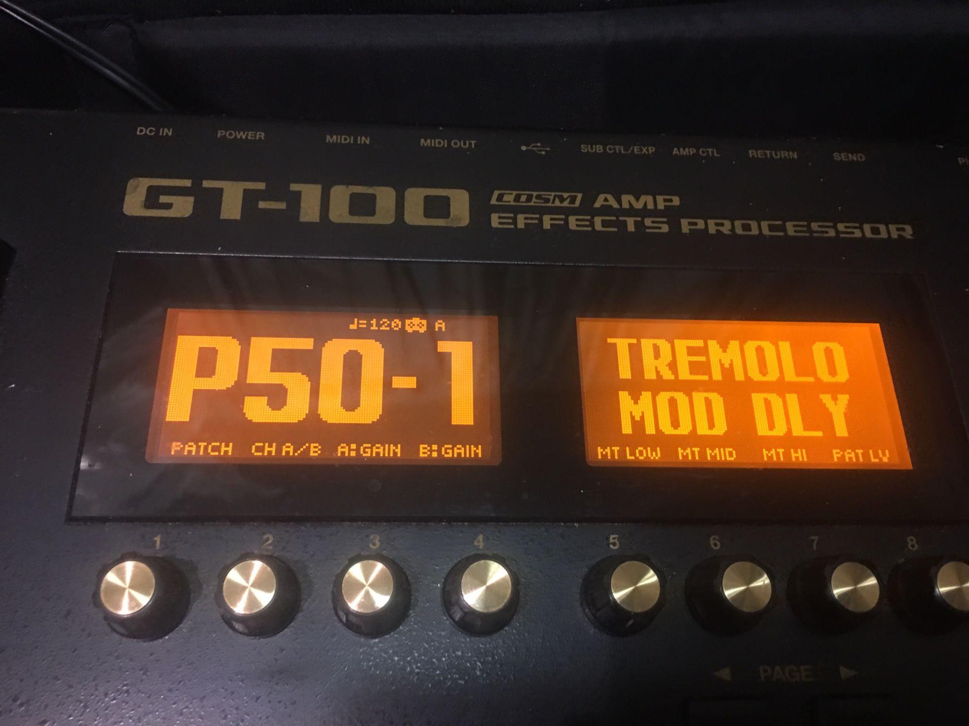 BOSS GT100 GUITAR EFFECTS
