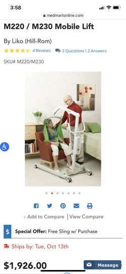 Liko Highback Sling Mobile Lift Thumbnail