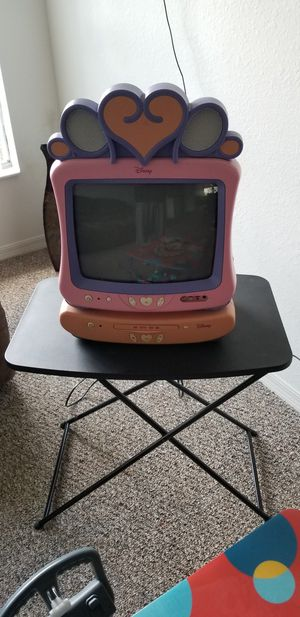 Pink Disney T.V. with pink DVD player for Sale in Orlando, FL