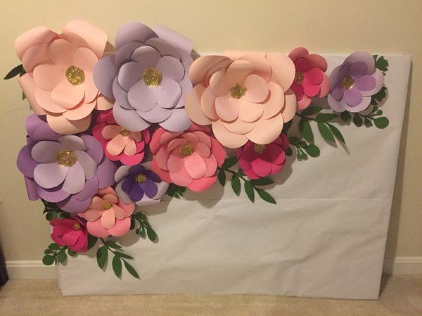 Paper flower backdrop for sale in silver spring md offerup mightylinksfo