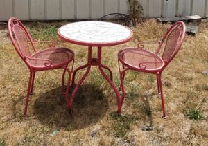 Metal Bistro Table & 2 Chairs for Sale in Graham, NC
