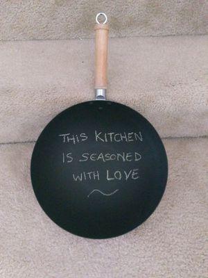 Kitchen decor - chalkboard wok for Sale in Vienna, VA