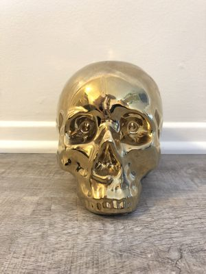 Gold Metal Skull for Sale in Los Angeles, CA