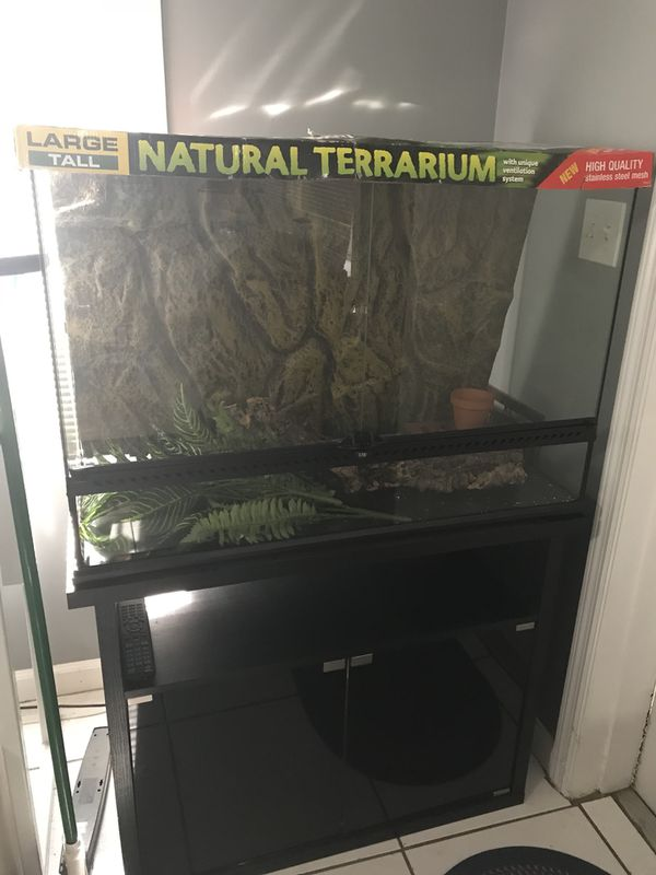 Exo Terra Large Tall 36x18x24 With Exo Terra Stand Included For Sale