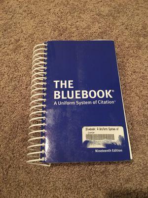 Bluebook (Law school books) for Sale in Santa Monica, CA