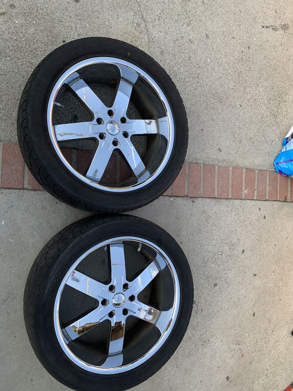 Re Chrome Rims >> Chrome 6 Spoke U2 Rims And Tires 350 San Fernando Valley For Sale In Los Angeles Ca Offerup