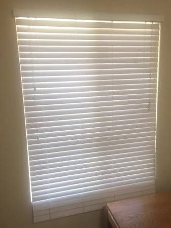 2 White Wood Blinds 45 X 64 Household In San Fernando Ca