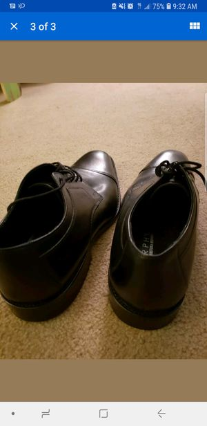 Johnston and Murphy Genuine leather black dress shoes for Sale in Silver Spring, MD