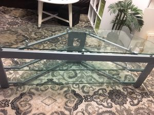 Tv aluminum class stand for Sale in Arlington, VA