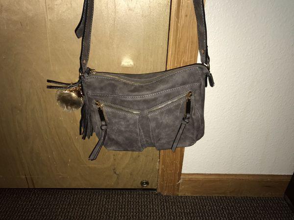 fe45f3e8124a CUTE gray purse! Fluffy owl keychain for Sale in Portland