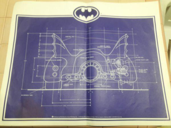 Batmobile blueprint 3 1992 collectibles in miami fl offerup malvernweather Choice Image