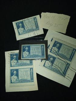 Lincoln Gettysburg Address 3c stamp Thumbnail