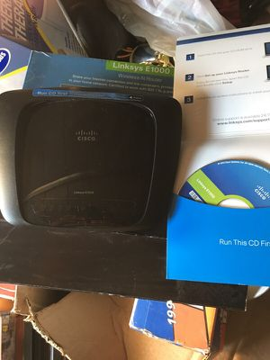 Wireless N Router Linksys E1000 for Sale in Chesterfield, VA