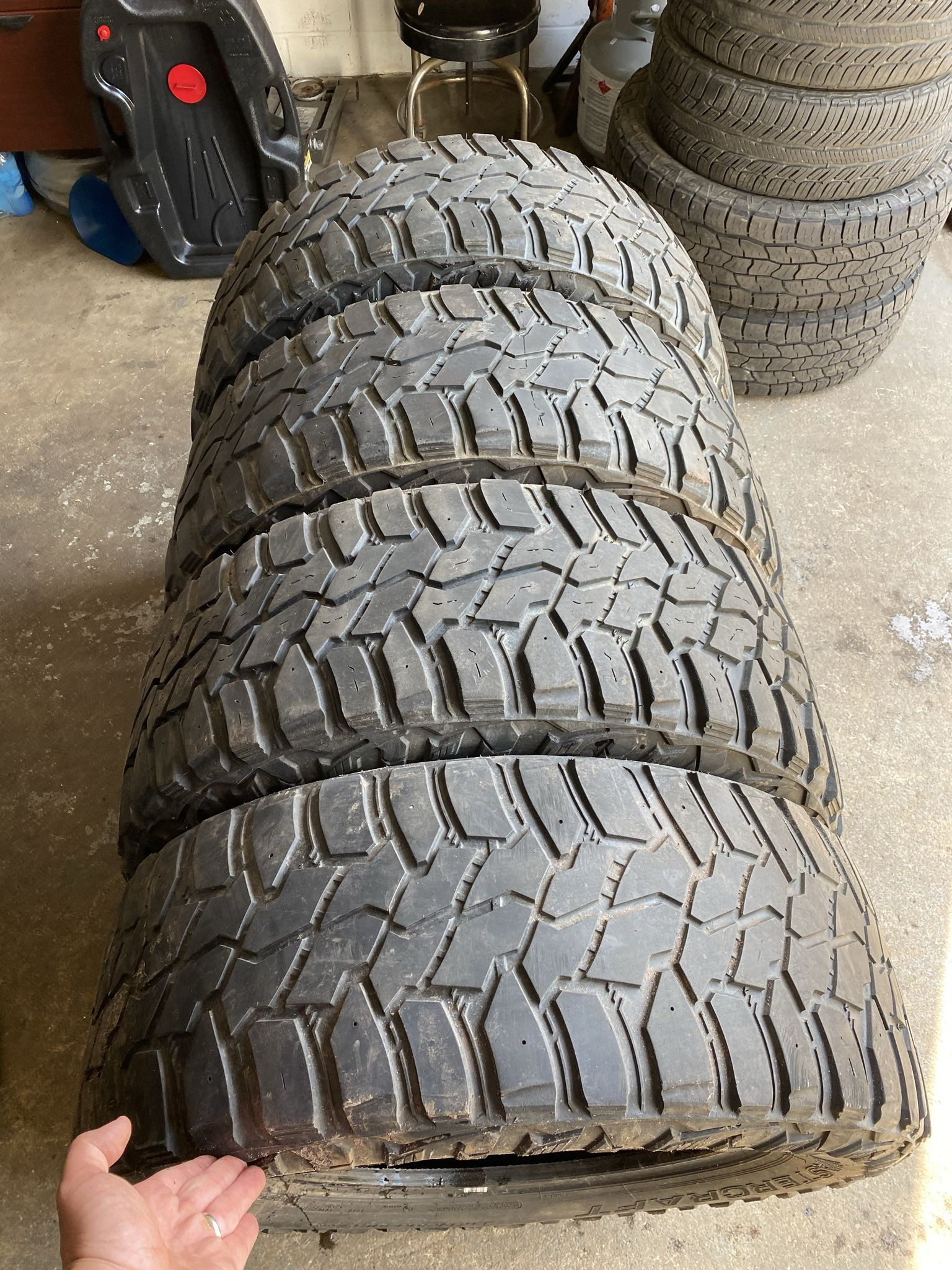 Photo 4 35x12.50x20 Mastercraft Courser MXT Tires. Cooper makes Mastercraft, these are similar to Cooper Discoverer STT Pro lineup. Load range E $450 fo