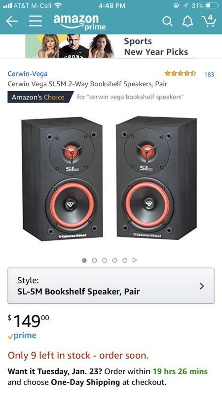 Cerwi Vega Bookshelf Speakers New Audio Equipment In Kansas City MO