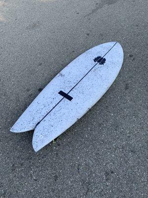 """5'5"""" Twin Fin Fish Surfboard - Tyler Warren True Ames Keel Glass Ons for Sale in Playa del Rey, CA"""