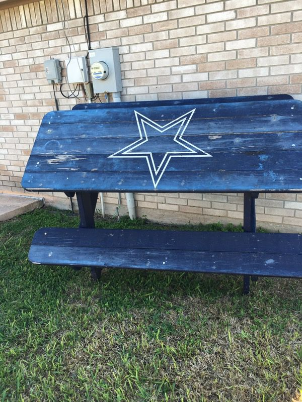 Dallas Cowboys Picnic Table For Sale In Edinburg TX OfferUp - Dallas cowboys picnic table