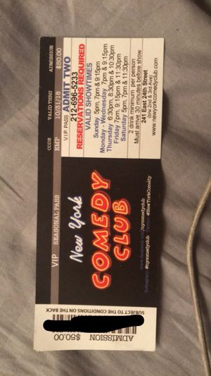New York comedy club pass for Sale in New York, NY