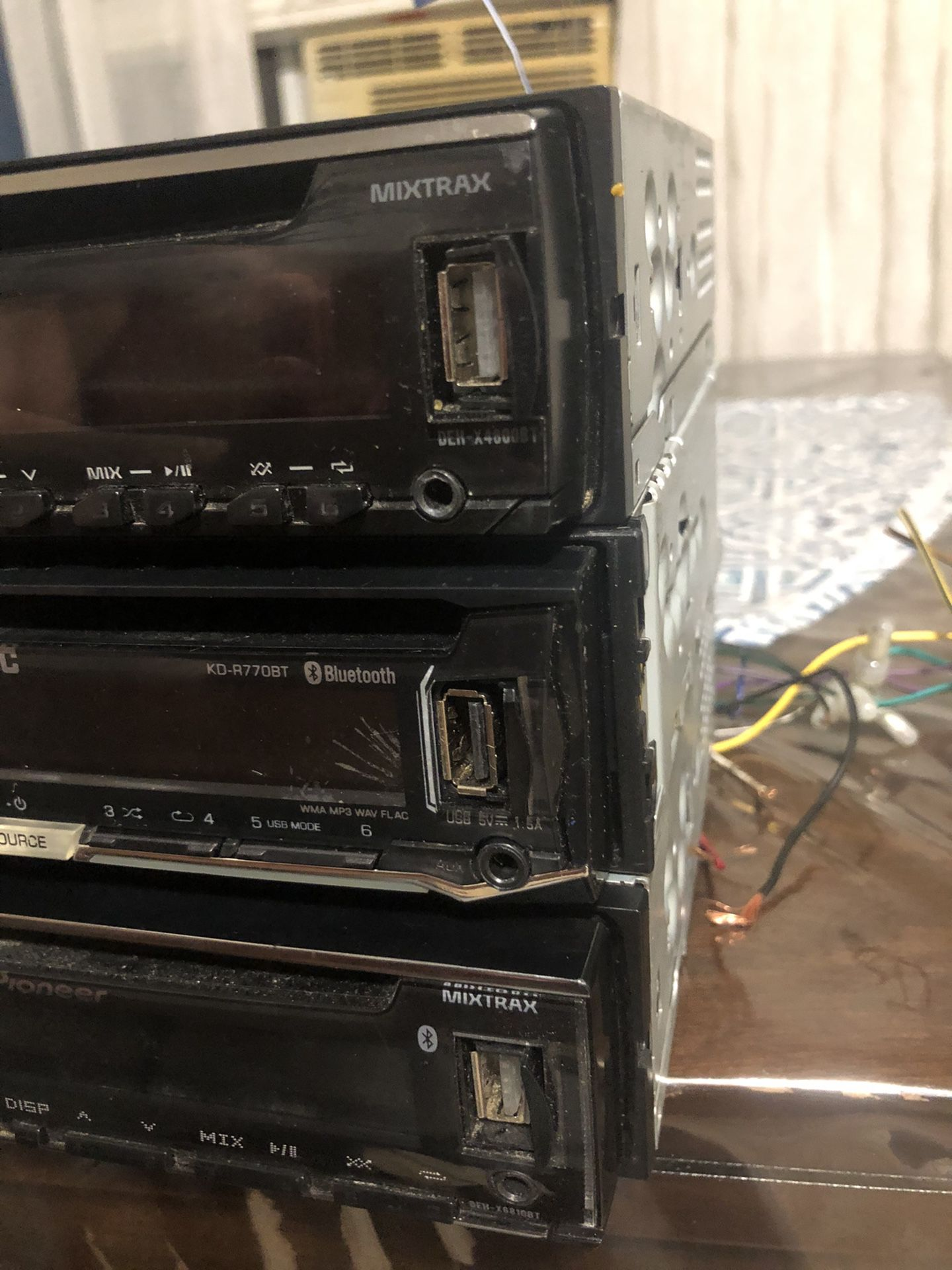 Pioneer Bluetooth Stereo And JVC Bluetooth Stereo  All for $70 Or $30 Each