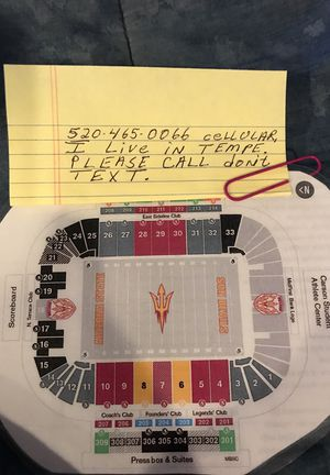 4 Arizona State VS. Stanford Cardnals Football Tickets , Thursday 10/18/18 6:00 P.M. , at Sun Devil Stadium . for Sale in Tempe, AZ
