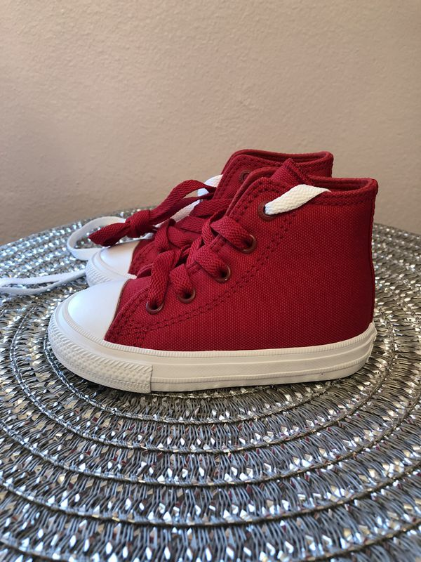 9336b360b668 Red Converse Sneakers - Size 6 Toddler - BRAND NEW!! for Sale in ...