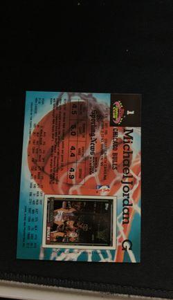 Michael Jordan stadium card+ Richard Jefferson worn shooting shirt card Thumbnail