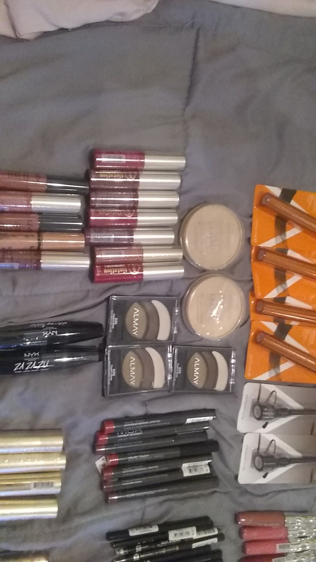 Makeup different brands $2 to $3 each