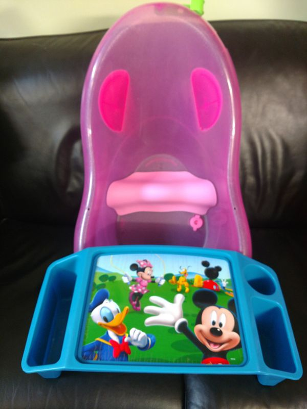 Baby Bundle Pink Sparkles Baby Bath Tub & Disney Activity Tray $10 ...