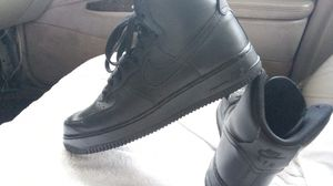 Photo Nike Air Force 1 jet black hightops. Only worn twice