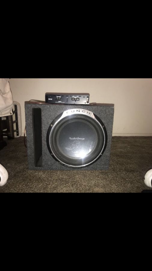 Rockford Fosgate Punch P3 12' Box, and Amp for Sale in Manteca, CA - OfferUp