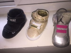 Black Jordan's size 1 Micheal lord size 1 pink and silver Jordan's size 1 $20 each for Sale in Washington, DC