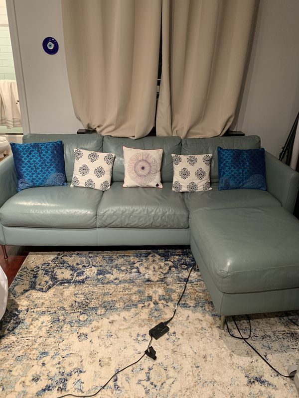 Leather sofa plus ottoman for Sale in New York, NY - OfferUp