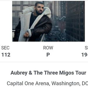 Aubrey (DRAKE) and Migos Tickets for Sale in Baltimore, MD