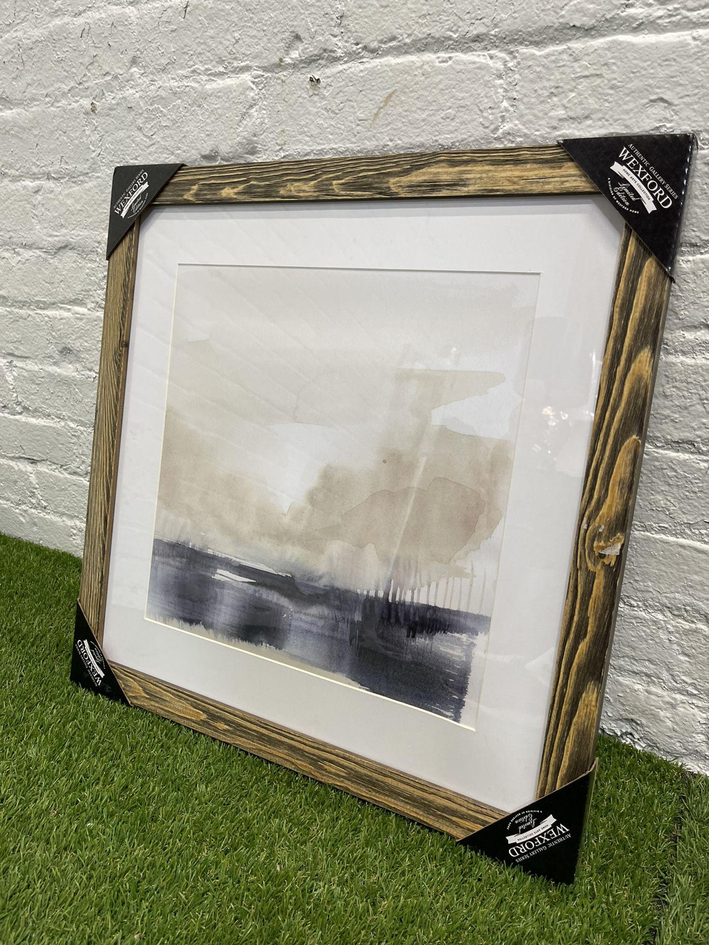 Fog on the Horizon V-Premium Framed Print - Ready to Hang - Grey - 20 x 20