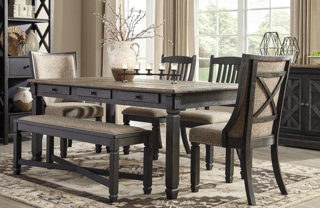 Same Day DeliveryTyler Creek Black/Gray Dining Room Set   D736 by Ashley