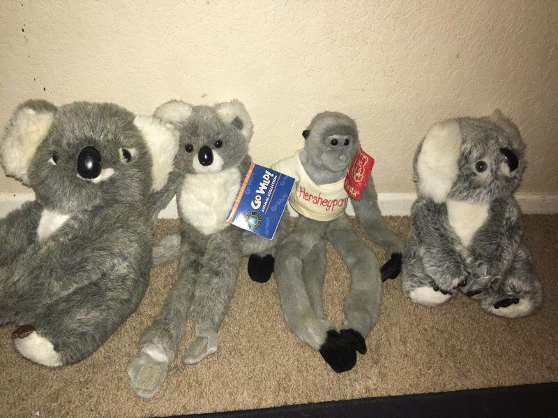 Animals stuffed animals