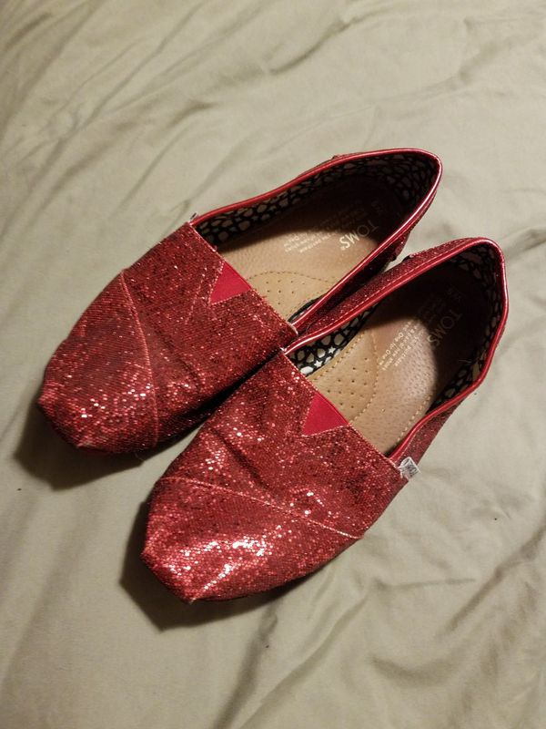 66cbcbe5ce4 Red Glitter Toms for Sale in Longview