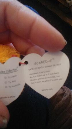 Scared-e beanie baby Thumbnail