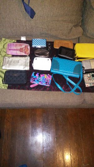 Wallets and 2 cross body clutch wallets for Sale in Washington, DC