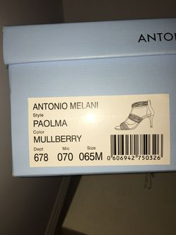 Size 6.5 Mulberry Antonio Melani Vero Cuoio Heeled Sandals. Thumbnail